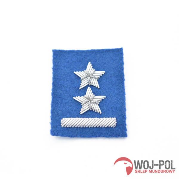 Podporucznik na beret niebieski haftowany bajorkiem