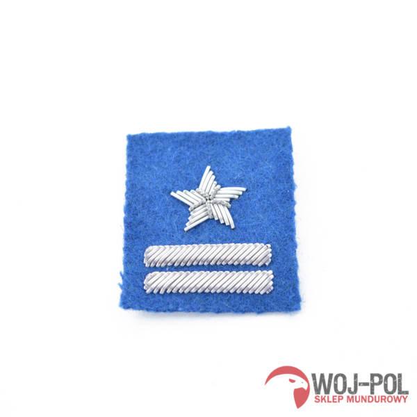 Major na beret niebieski haftowany bajorkiem