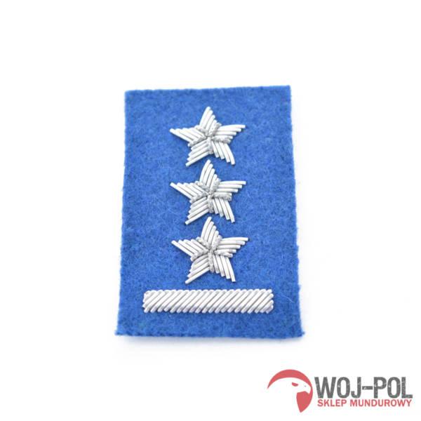 Porucznik na beret niebieski haftowany bajorkiem