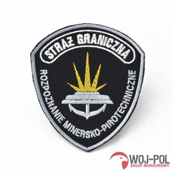 Emblemat sg rozpoznanie minersko pirotechniczne (czarny)