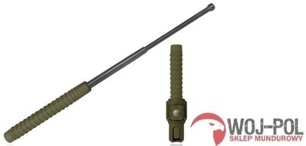 Pałka teleskopowa baton hartowana esp 21″ zielono czarna