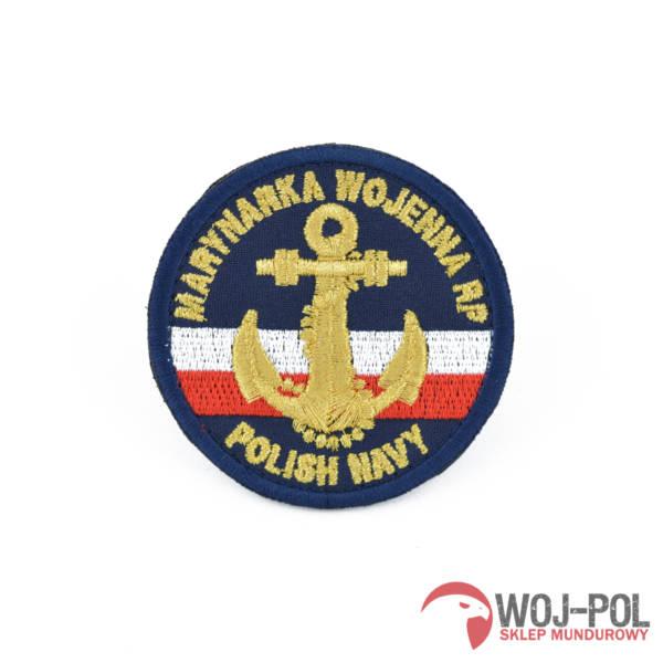 Naszywka emblemat marynarki wojennej mw granatowy