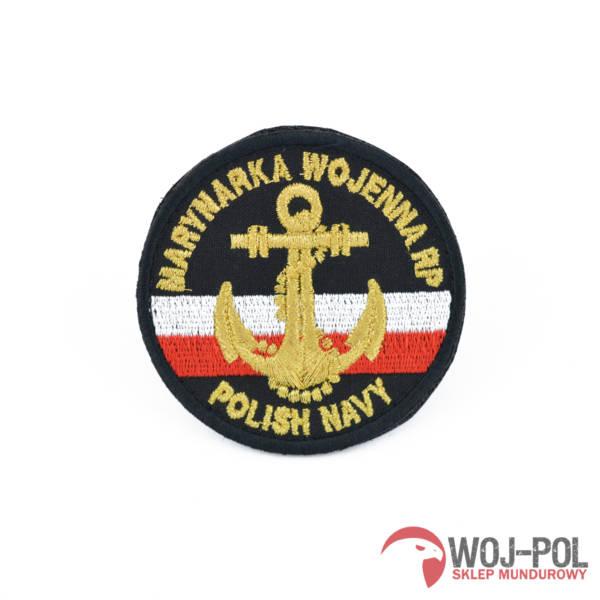 Naszywka emblemat marynarki wojennej mw czarny