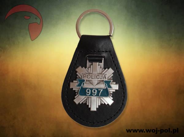 Brelok policja metalowy