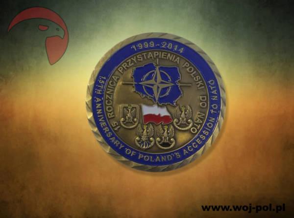 Coin 15 rocznica przystąpienia polski do nato brązowy