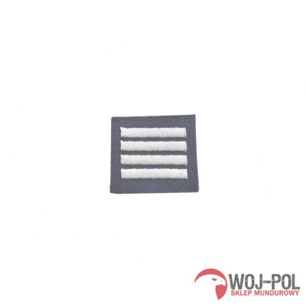 Stopień na furażerkę stalową plutonowy haftowany – nowy wzór