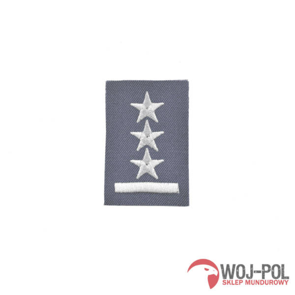 Stopień na furażerkę stalową porucznik haftowany – nowy wzór