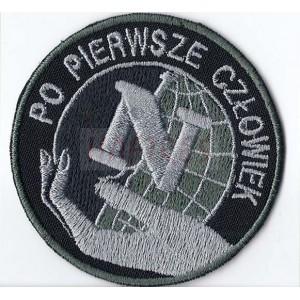 Emblemat policja negocjator z rzepem