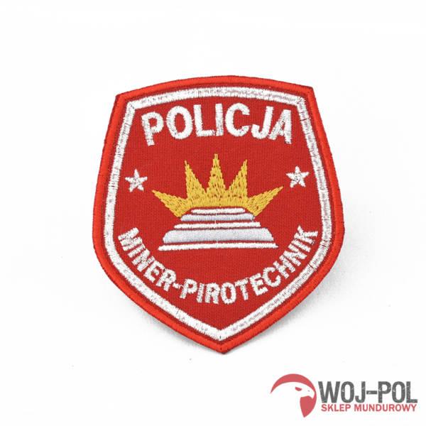 Emblemat policja miner pirotechnik bez rzepa czerwona