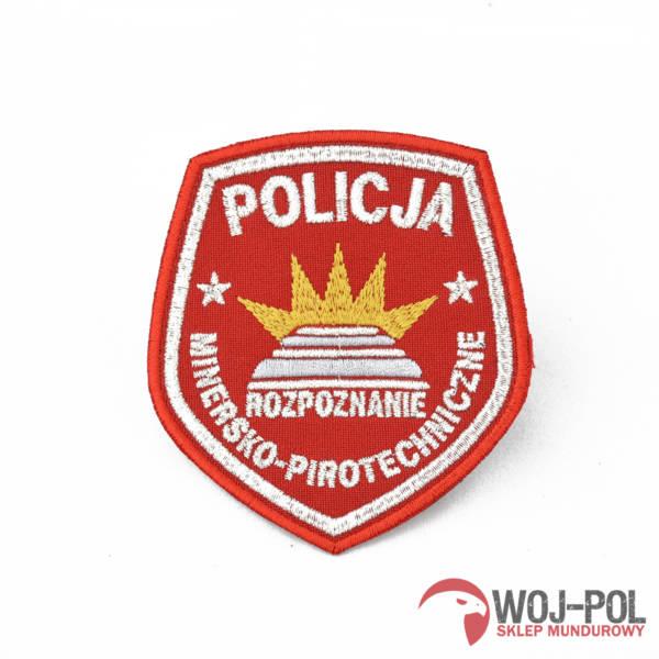 Emblemat policja rozpoznanie minersko pirotechnicz z rzepem