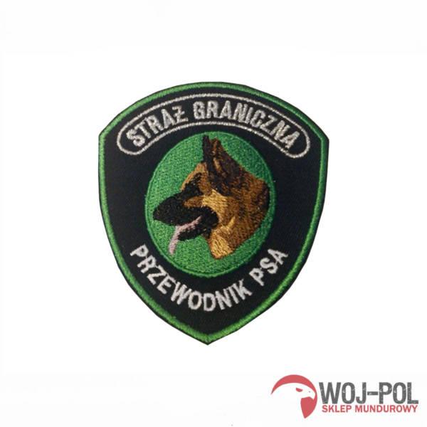 Emblemat straży granicznej przewodnik psa
