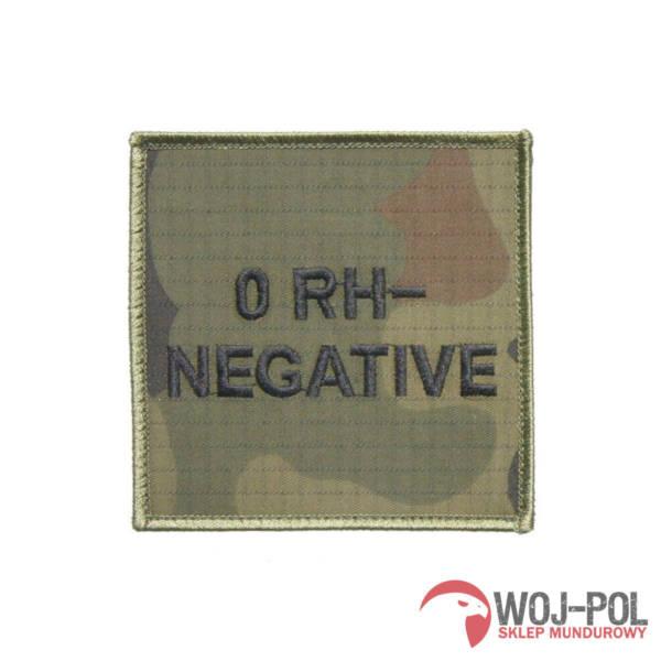 Grupa krwi 0 rh- (negative) na mundur wz 2010