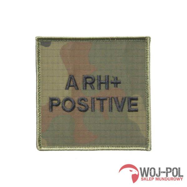 Grupa krwi a rh + (positive) na mundur wz 2010