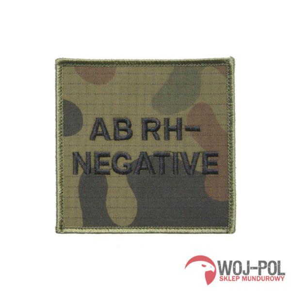 Grupa krwi ab rh- (negative) na mundur wz 2010