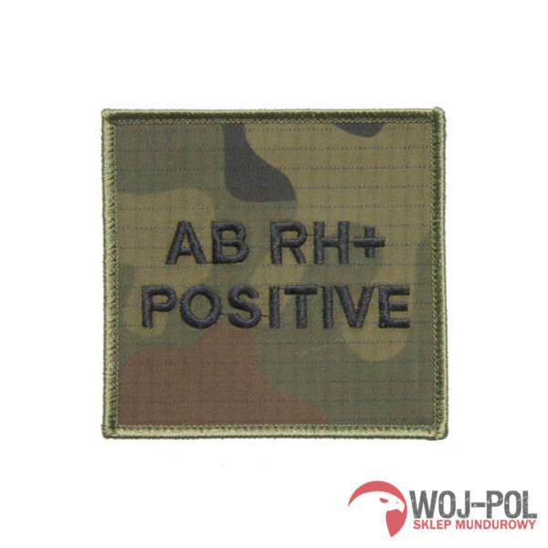 Grupa krwi ab rh + (positive) na mundur wz 2010