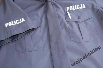 Koszula granatowa policji z krótkim rękawem 37-38