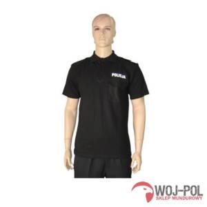 Koszulka POLO czarna POLICJA