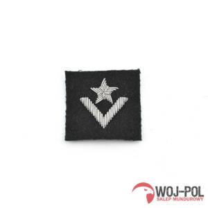 Mł.Chorąży na beret czarny haftowany bajorkiem