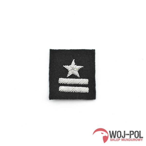 Major na beret czarny haftowany bajorkiem