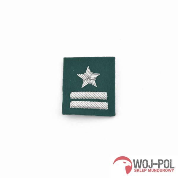 Major na beret zielony haftowany bajorkiem