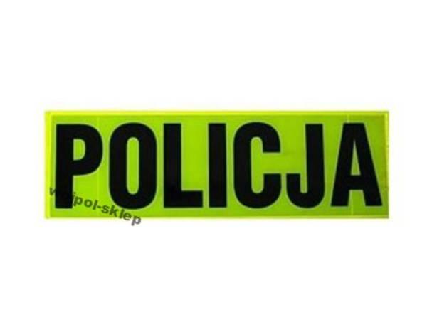 Napis żółty policja odblaskowy duży + mały