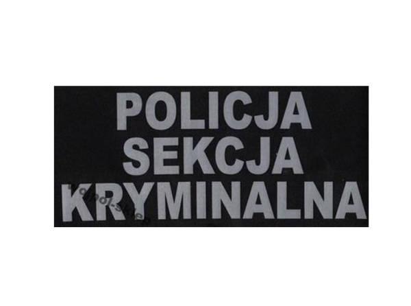 Napis policja sekcja kryminalna