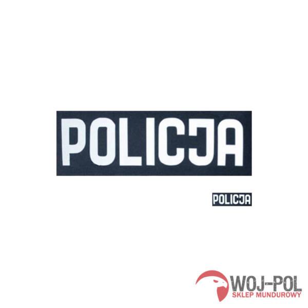 Napis grafitowy policja odblaskowy duży + mały