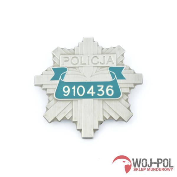 Odznaka blacha policji nr losowy