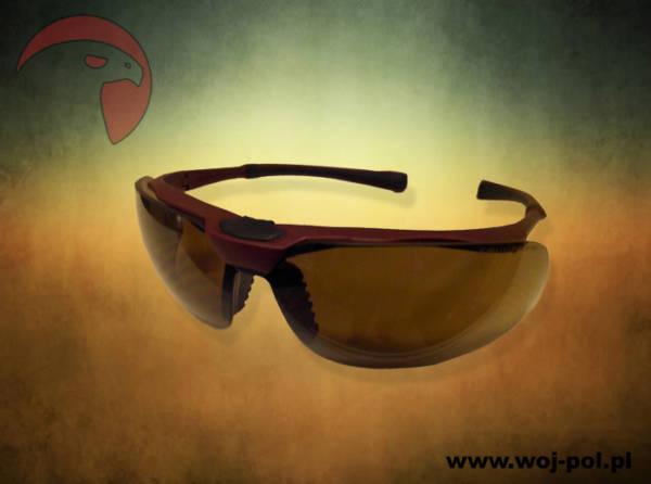 Okulary univet 5×3 soczewki brązowe balistyczne
