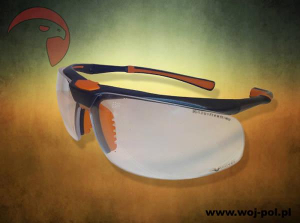 Okulary univet 5×3 przeźroczyste balistyczne