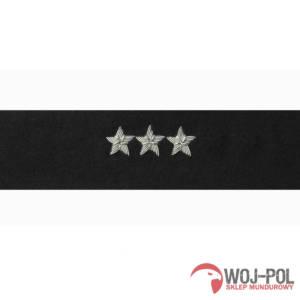Otok czarny do rogatywki Wojska Polskiego chorąży sztabowy, porucznik, pułkownik