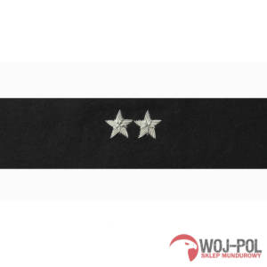 Otok czarny do rogatywki Wojska Polskiego starszy chorąży, podporucznik, podpułkownik