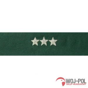 Otok zielony do rogatywki Wojska Polskiego chorąży sztabowy, porucznik, pułkownik