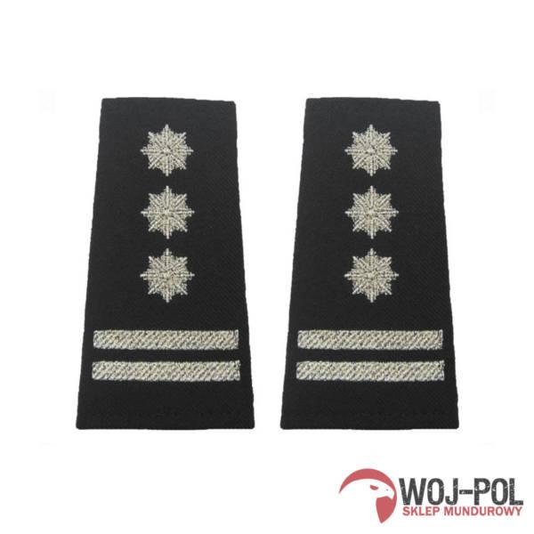 Pagony policyjne czarne – inspektor