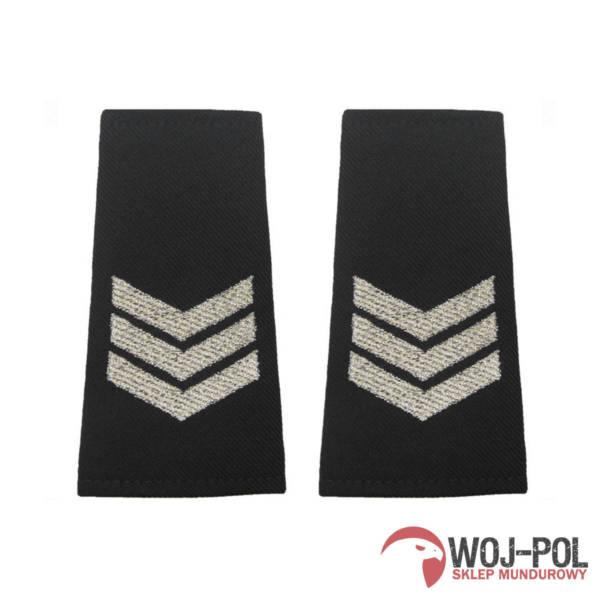 Pagony policyjne czarne – sierżant sztabowy