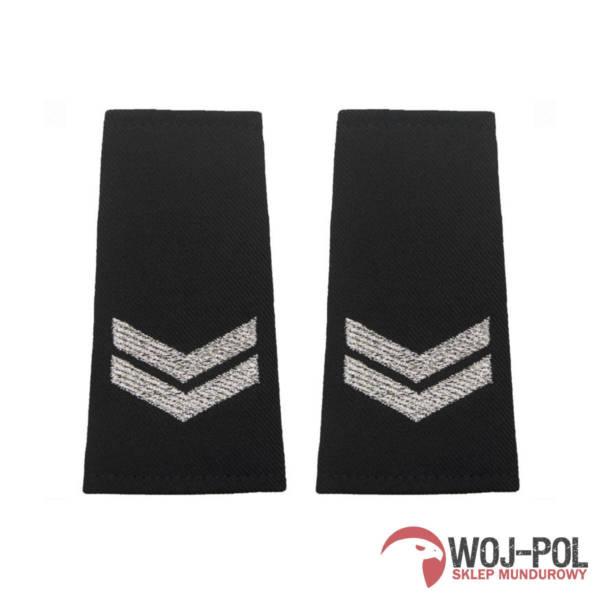 Pagony policyjne czarne – starszy sierżant