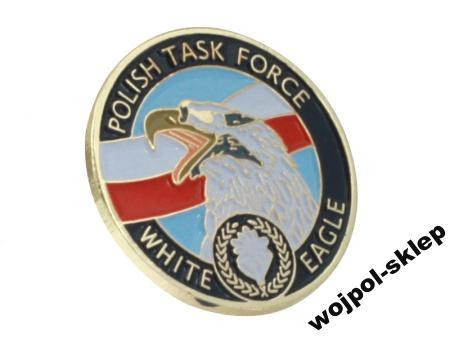 Pins polish task force white eagle