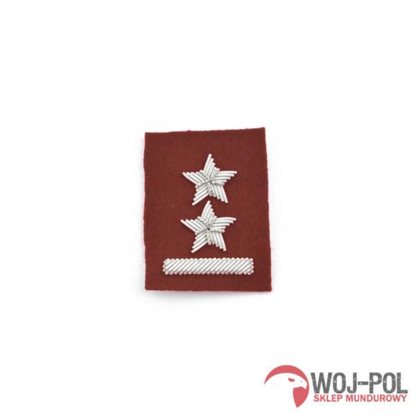 Podporucznik na beret bordowy haft bajorkiem