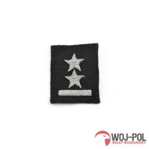 Podporucznik na beret czarny haftowany bajorkiem