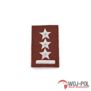 Porucznik na beret bordowy haft bajorkiem