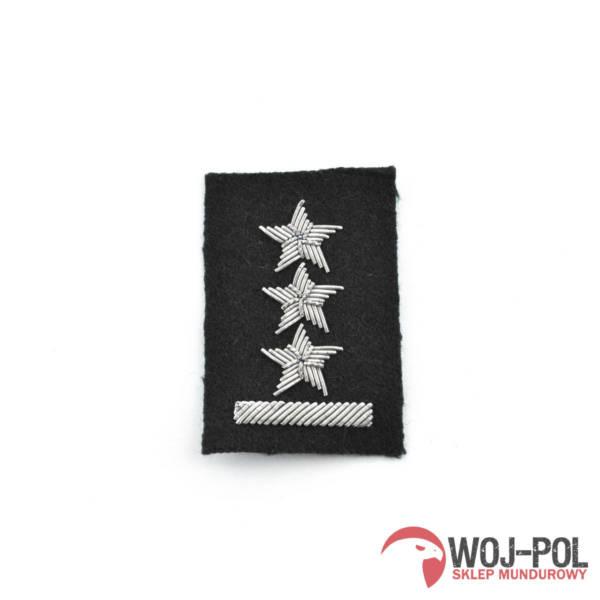 Porucznik na beret czarny haftowany bajorkiem
