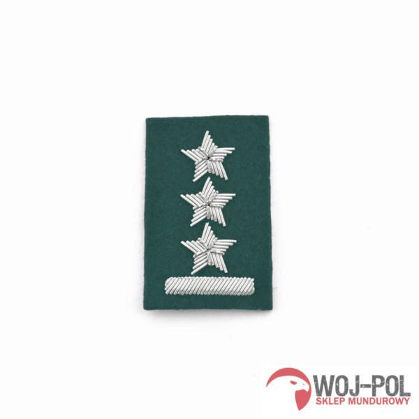 Porucznik na beret zielony haftowany bajorkiem