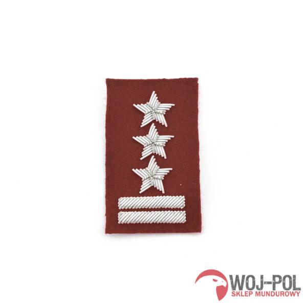 Pułkownik na beret bordowy haft bajorkiem