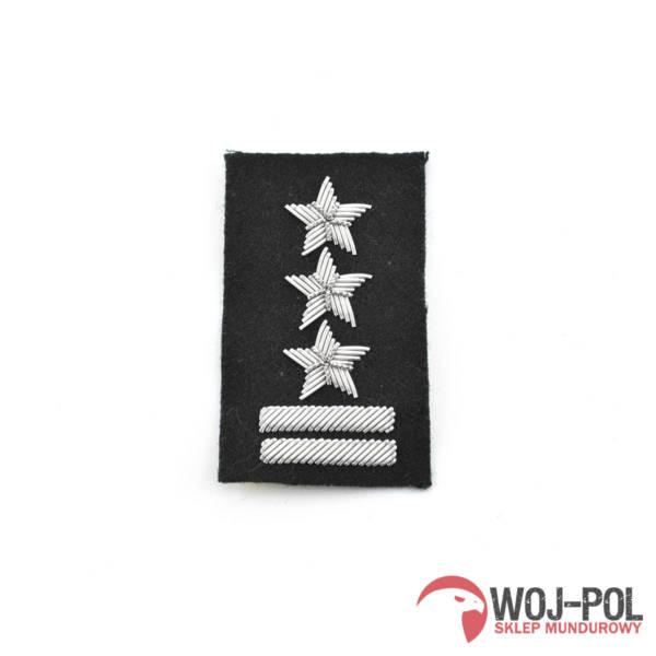 Pułkownik na beret czarny haftowany bajorkiem