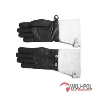 Rękawice skórzane letnie z białymi mankietami