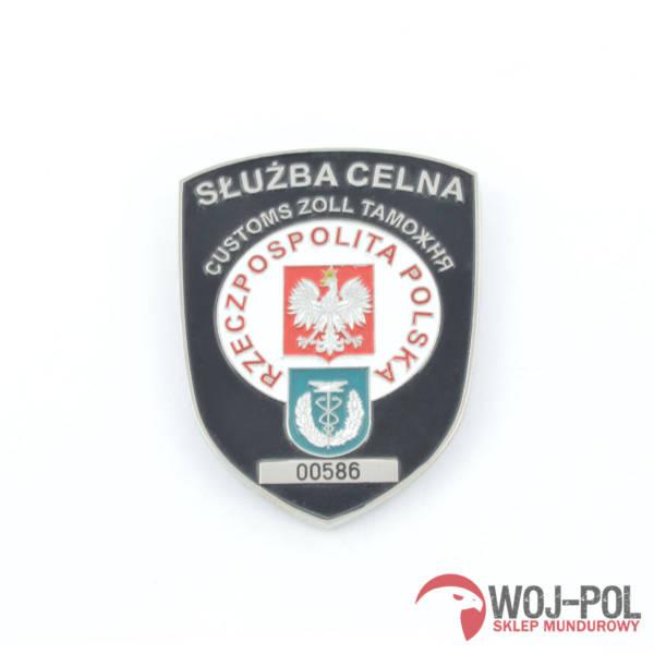 SŁuŻba celna odznaka blacha grawer numeru losowy