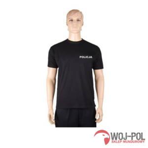 T-shirt czarny Policja