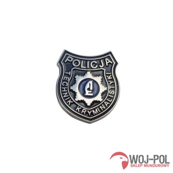 Technik kryminalistyki policja pins