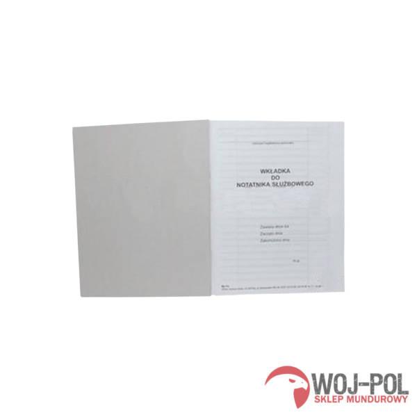 Wkładka do notatnika służbowego policji