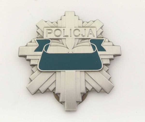 Odznaka blacha policji  z grawerem